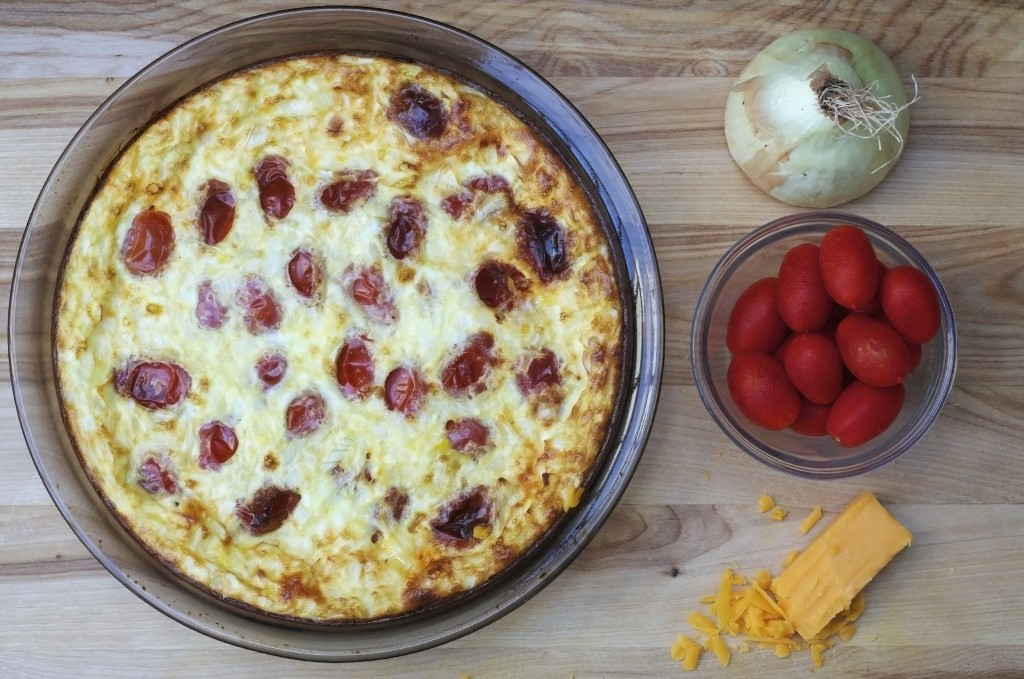 Tomato and Onion Quiche