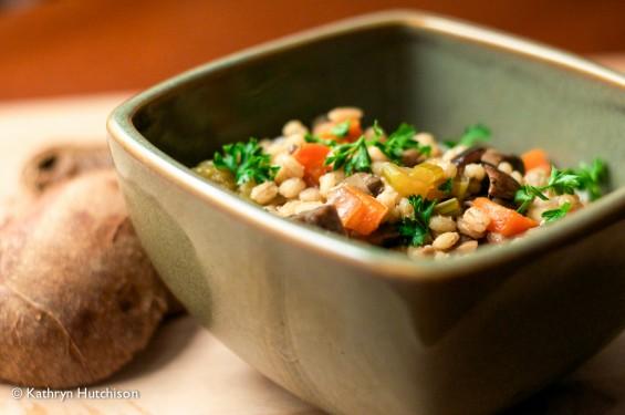 Barley Stew with Mushrooms