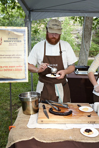 Chef Jesse Griffiths at the 2012 Live Fire! Photo courtesy Austin Food & Wine Alliance.