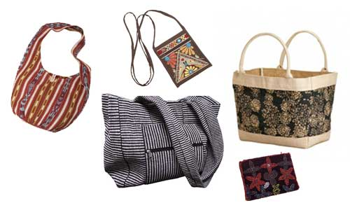 Bags available at Ten Thousand Villages, $9.99-39.99