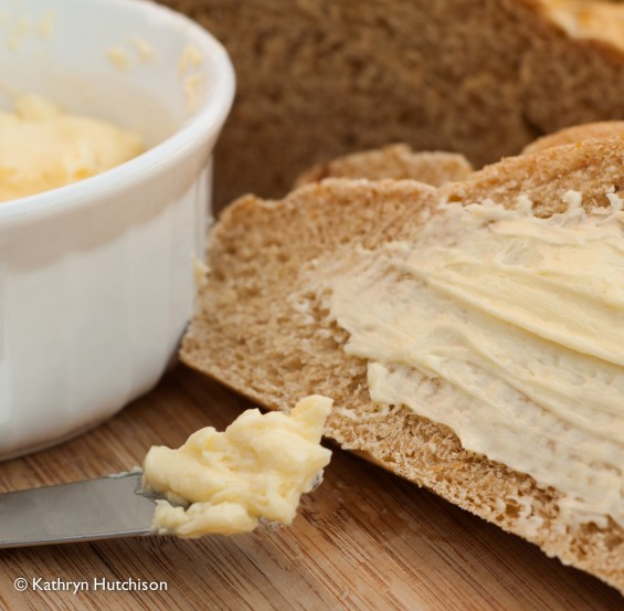 Bread and Butter with Butter on Knife